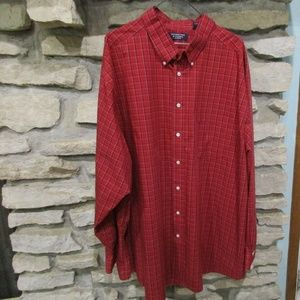 Red Plaid 4XT (Size 20)  Long Sleeve  Shirt